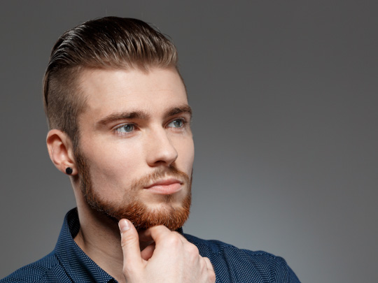 Undercut with Comb-Over or Brushed Back
